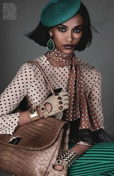 W Magazine.l..love dotted look!...love the splash of color with the dots...so pretty!