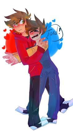 ADORABLE RED AND BLUE