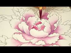Drawing petals using the seventh vignette technique. Korean painting Oriental painting Color painting Folk art gradation 彩色 技法 ぼ か し – World of Flowers Korean Painting, Chinese Painting, Chinese Art, Asian Flowers, Colorful Flowers, Painting Videos, Painting Techniques, Silk Painting, Painting & Drawing