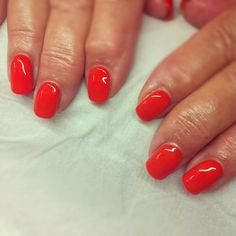 Gorgeous Calgel nails... add a little bit of sunshine to the day! x