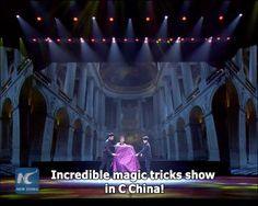 Turning sci-fi into reality! Chinese magician makes his assistant vanish and then reappear in a quick change magic trick. He also teleports his assistant and himself in the blink of an eye.