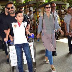 Ajay Devgn & Kajol return to Mumbai with Family. . . #instantbollywood #bollywood #ajaydevgn #kajol