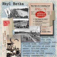 The days of Rhyl Baths - learned to swim here  - in freezing water most of the time!