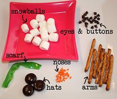 Mixed up snowman snack