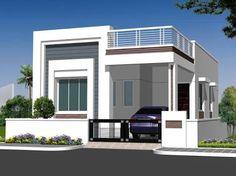 Individual House Elevation P L Plan Andhra Pradesh Style Ranch Elevations Drawings . Single Floor House Design, Bungalow House Design, House Front Design, Modern House Design, My House Plans, Bungalow House Plans, Modern House Plans, Small House Plans, Front Elevation Designs