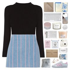 """theme tag: stripes"" by randomn3ss ❤ liked on Polyvore featuring CB2, T By Alexander Wang, adidas Originals, BlissfulCASE, Maison La Bougie, Martex, Korres, NEOM Organics, Love 21 and Muji"