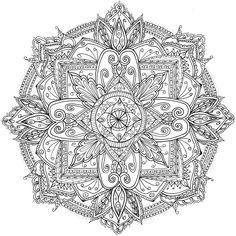 ԑ̮̑♦̮̑ɜ~Mandala para Colorear~ԑ̮̑♦̮̑ɜ Friday Mandala by WelshPixie on…
