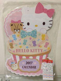 Sanrio Hello Kitty 2017 Die cut Calendar Sticker set Schedule Huge size wall