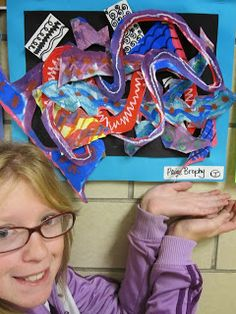 Lake and Hartville Elementary Art: 5th Grade ABSTRACT Frank STella Compositions