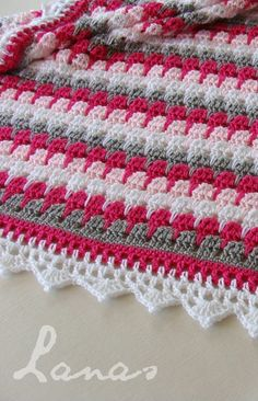 "Larksfoot Crochet Blanket Pattern [ ""Larksfoot Crochet Blanket Pattern So in love with the color combo"" ] # # #Baby #Afghan #Crochet, # #Crocheted #Baby #Blankets, # #Crochet #Baby #Blanket #Patterns, # #Crocheted #Afghans, # #Baby #Afghans, # #Crochet #Patterns, # #Color #Shade, # #Colour, # #So #In #Love"