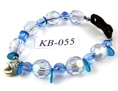 KB055 Baby Blue acrylic shell and glass Kitty Cat by OklahomaMama, $10.00