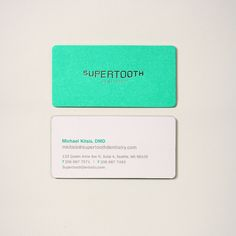 Supertooth Dentistry by YIU Studio graphic corporate visual identity branding business card design