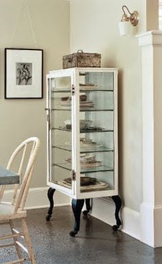 2 metal and glass vintage medical cabinets apothecary towel ...