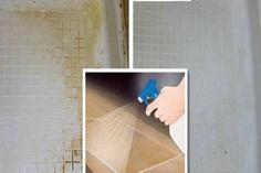 A zuhanyfülkére rászáradt vízcseppeket, vízköves foltokat egyáltalán nem könnyű eltávolítani, főleg ha azok az apró minták közé is befészkelik magukat. Helpful Hints, Household, Shelves, Cleaning, Organization, Furniture, Home Decor, Zero Waste, Cement