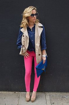How great are these hot pink jeans?