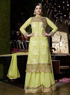 Sea Green Net & Georgette Salwar Kameez ,Indian Dresses - 1