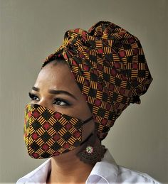 African Hair Wrap, African Head Wraps, Nose Mask, Diy Face Mask, Face Masks, Diy Mask, Mouth Mask Fashion, Fashion Face Mask, Scarf Hairstyles