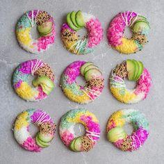 Vegan rainbow sushi donuts