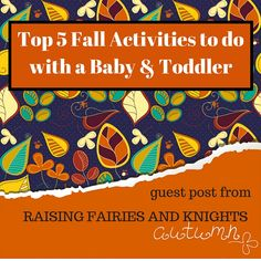 Fall is a great season and there are so many ways to celebrate, the best ways include your baby and toddler so they can start to learn about the seasons too
