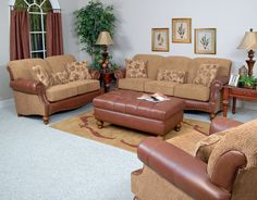 England Furniture 4350L with Grid Umber, Stargo Brownsugar, and McDowel Cubans fabrics