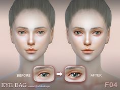 Eyebag F04 by S-Club LL at TSR via Sims 4 Updates