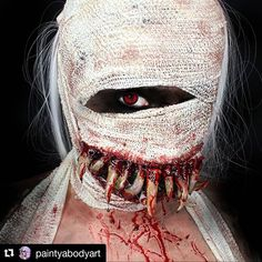 Mummy Scary Halloween Makeup Body Painting Art Idea From Wil Mummy Makeup, Halloween Makeup Witch, Scary Makeup, Sfx Makeup, Beauty Makeup, Scary Halloween Costumes, Halloween Halloween, Horror Makeup, Body Painting