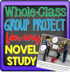 Are you looking for a whole-class novel study project for your upper elementary, middle school, or high school students? Reading Strategies, Reading Activities, Teaching Reading, Teaching Ideas, Reading Comprehension, 6th Grade Reading, 6th Grade Ela, Middle School English, English Class