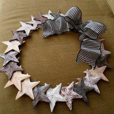 Polymer Clay Wreath: Shabby Chic Nautical Stars, WITH TUTE! - POTTERY, CERAMICS, POLYMER CLAY