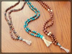Step by step tutorial on making your own mala beads! DIY