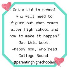 College or not, these conversations will help your teen think through things and the conversations will form a bond between teen and parent. Parenting Teens, Parenting Quotes, Parenting Hacks, After High School, Happy Mom, Teenage Years, High School Students, Life Skills, College
