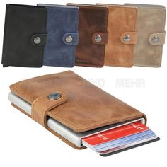 SECRID Mini Wallet Cardprotector RFID Kartenbörse Etui Kartenetui Leder