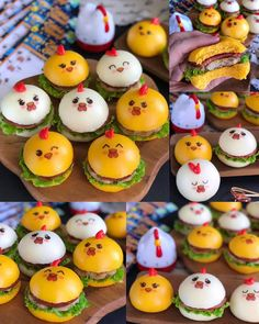 Instagram 上的 Lina Gui:「 Selamat Pagi... Mengawali awal pekan dengan yang lucu-lucu, mini burger pao karakter ayam. Kalau punya edible stamp karakter mata-mata… 」 Mini Burgers, Breakfast, Diy, Food, Mini Hamburgers, Morning Coffee, Bricolage, Essen, Do It Yourself
