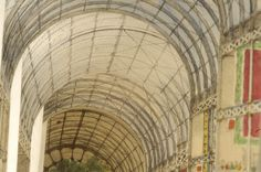 Lane's Telescopic View: The Ceremony of Her Majesty Opening the Great Exhibition (Inside view: ceiling of the Crystal Palace) | A vintage tunnel book form | via Flickr