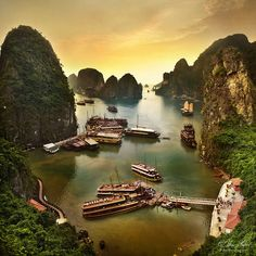 Ha Long Bay, Vietnam.. Love Travel? Make Money Working From Home-Legitimate Online Business in Luxury Travel. SAVE Money-Travel More, Earn income from ANYWHERE visit us @ http://www.eliteholidayincome.com to find out how-