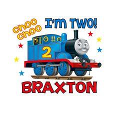 Personalized Thomas the Train Style Birthday Age T-shirt Tshirt Party Favor Supplies. $12.00, via Etsy.