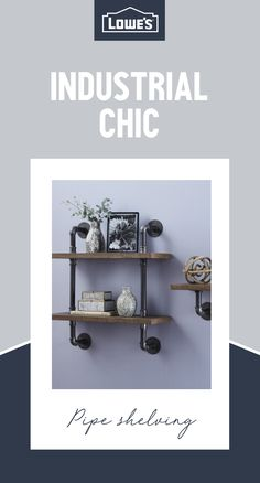 Master the industrial trend with this stylish shelving idea. These easy DIY pipe shelves are a work of art on their own and a convenient way to display your favorite pictures, vases and knickknacks. Discover more home ideas at Lowe's. Basement Living Rooms, Basement Apartment, Diy Pipe Shelves, Moving Supplies, Basement Remodeling, Basement Ideas, Organizing Your Home, Creative Decor, Bars For Home