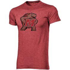 Maryland Terrapins Big Logo Overtime Tri-Blend T-Shirt - Red - $18.99