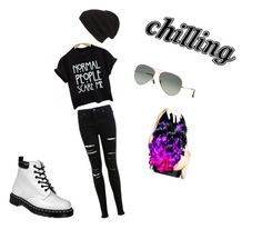 """Chilling"" by haileythomas-1 on Polyvore featuring Miss Selfridge, Phase 3, Ray-Ban, Dr. Martens and Leg Avenue"