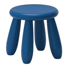 IKEA - MAMMUT, Children's stool, indoor/outdoor/dark blue,  , , Made of plastic which makes it easy for children to carry and move.Also perfect for outdoor use since it is made to withstand rain, sun, snow and dirt.