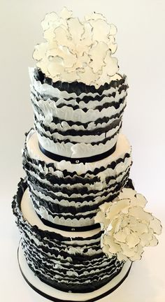 Black and white wedding ..... Frills, frills and more frills!!!