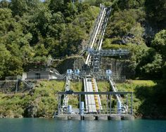 """45 minute Aquifer Tour """"which takes visitors in a glass panelled lift down the original dolomite well shaft, from which water was originally extracted. Walk through a tunnel to see the Blue Lake at close proximity."""" etc... Blue Lake Mt Gambier"""