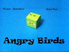 Paper Toys. Origami - Papiroflexia. Angry Birds 3D. #2