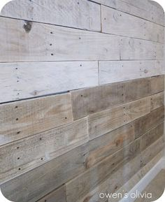 owen's olivia: Whitewashed Wood Technique {Tutorial}