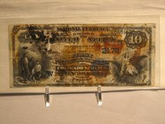 A ten-dollar bill recovered from the debris field of Titanic.