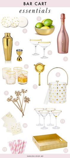 Bar Cart Essentials | Sara du Jour
