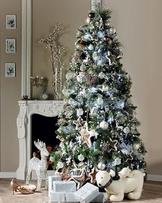 tendencias para decorar tu arbol de navidad 2016 2017 20 merry christmassilver christmas treetop - 75 White Christmas Tree
