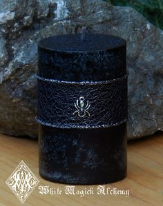 2014 Party Candles Ideas - Black Widow 2x3 Candle . Weaver of Fate and