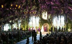 GAHH its like a forest wedding, indoors!!