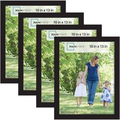 mainstays 10x13 picture frames black 4 pack