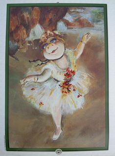 Miss Piggy the Ballerina  after Degas
